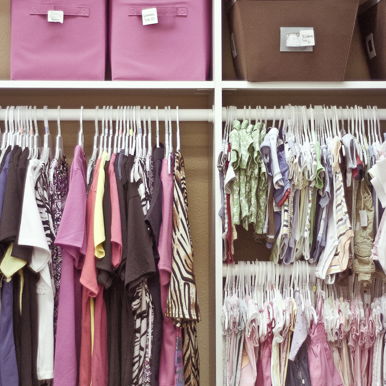 Girls clothing section